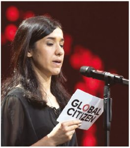 Author Nadia Murad is a Yazidi activist who tells her painful story of being raped and tortured by ISIS militants. Her mother and six brothers were killed by the same group and left in mass graves. (Photo: Frank Schwichtenberg)