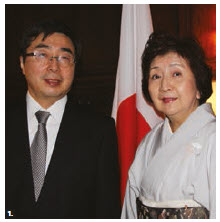 Japanese Ambassador Kimihiro Ishikane and his wife, Kaoru, hosted a reception at their residence to welcome this year's returning former JET Program participants and to celebrate 30 years of the JET Program. (Photo: Ülle Baum)