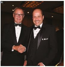 Naif Bandir A. Alsudairy, Saudi Ambassador and president of the Ottawa Diplomatic Association, attended the ball. He's joined here by Dwain Lingenfelter, businessman and former leader of the Saskatchewan NDP party. (Photo: Ülle Baum)