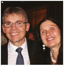Finnish Ambassador Vesa Ilmari Lehtonen and his wife, Pirjetta Julia Manninen, hosted a reception at their residence to celebrate Finland's 100th Independence Day. (Photo: Ülle Baum)