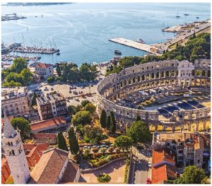 Pula Arena in Istria is the only remaining Roman amphitheatre preserved in its entirety. It was built in the 1st Century AD. (Photo: fraser yachts)
