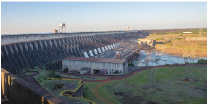 The Itaipu Dam is a hydroelectric power source located between Paraguay and Brazil. Hydroelectric power is one of Paraguay's main exports.  (Photo: © Iuliia Timofeeva   Dreamstime.com)