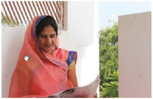 Meena Paliwal, one of the very few female sarpanch (elected head of government} in Sehore leads water and sanitation initiatives for the betterment of her village. (Photo: Wateraid,  ishita Rampal)