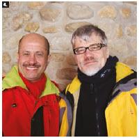 The Ottawa Diplomatic Association organized a ski day at Mont Cascades. Saudi Ambassador Naif Bandir A. Alsudairy ( left ) and Slovenian Ambassador Marjam Cencen took part. (Photo: Ülle Baum)