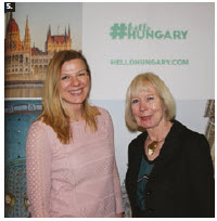 More than 18,000 attended the Ottawa Travel and Vacation Show. From left: Zsuzsanna Sarmon, regional head of business development for North America's Hungarian Tourism Agency, and Halina Player, president of Player Expositions International. (Photo: Ülle Baum)