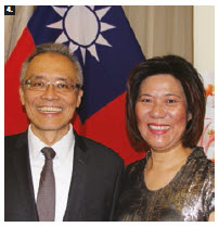 Taiwan Night took place at the Château Laurier. Frank Lin, acting representative of the Taipei Economic and Cultural Office, and his wife, Lin Lee, hosted. (Photo: Ülle Baum)