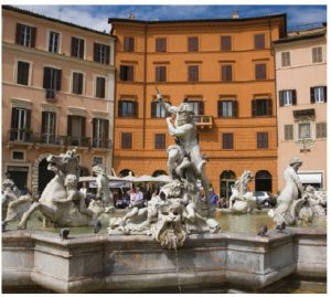 Rome's Piazza Navona is built on the site of the Stadium of Domitian, which itself was built in the 1st Century AD, and traces the form of the open space of the stadium. (Photo: ENTE NAZIONALE ITALIANA TURISMO)