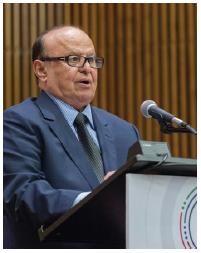Yemeni President Abdrabbuh Mansur Hadi speaks at the United Nations. (Photo: UN)