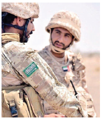 A Saudi soldier and a soldier from UAE on the front lines of the Yemeni war. (Photo: Saudi88hawk)