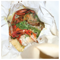 Lobster and Shrimp en Papillote (Photo: Larry Dickenson)