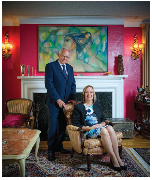 Cuban Ambassador Josephina de la Caridad Vidal Ferreiro and her husband, José Anselmo López Perera, in their warm Acacia Avenue home. (Photo: Ashley Fraser)