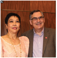 "In celebration of the 120th anniversary of the proclamation of Philippine independence, Ambassador Petronila Garcia hosted a reception and ""concert on the Hill""  by renowned Philippine pianist Raul Sunico, who performed with the Ottawa Chamber Orchestra. More than 450 people attended. Ambassador Garcia stands with Donald Bobiash, assistant deputy minister for the Asia-Pacific. (Photo: Ülle Baum)"