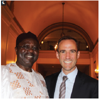 A celebration of Cameroon's national day took place at the Fairmont Château Laurier. From left: Cameroon High Commissioner Solomon Anu'A Gheyle Azoh-Mbi and MP Matt DeCoursey, parliamentary secretary for foreign affairs. (Photo: Ülle Baum)