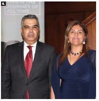 Egyptian Ambassador Motaz Mounir Zahran and his wife, Hala Elhusseiny Youssef, hosted a reception to mark Egypt's national day and bid farewell. (Photo: Ülle Baum)