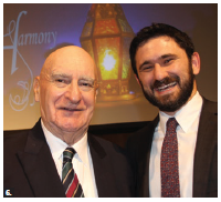 A 10th annual Iftar harmony dinner took place at the Sir John A. Macdonald Building. Larry Lederman, retired ambassador and former chief of protocol, left, and Rabbi Idan Scher, of the Congregation Machzikei Hadas, attended. (Photo: Ülle Baum)