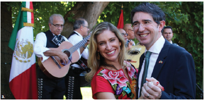 To mark the 208th anniversary of the independence of Mexico, Dionisio Pérez Jácome Friscione and his wife, Maria Jose Gonzalez de Cossio Higuera, hosted a reception at their residence. (Photo: Ülle Baum)