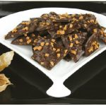 Crunchy Toffee Chocolate Bark is a tasty way to wind down a meal. (Photo: Larry Dickenson)