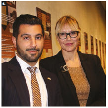 To mark the 75th anniversary of the rescue of Bulgarian Jews from deportation to Nazi death camps, the Embassy of Bulgaria hosted an exhibition. Ambassador Svetlana Sashova Stoycheva-Etropolski, right, is shown with Seena Akhtari, senior desk officer for Eastern Europe at Global Affairs Canada. (Ülle Baum)