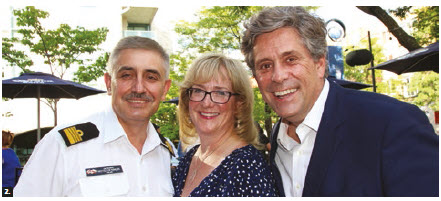 The third annual defence and security summer social took place at Earl of Sussex. From left: Krzysztof Ksiazek, Poland's defence, military, naval and air attaché; Astrid Neuland, business development executive of Thales Canada; and Paul Fortin, national director of international business development at Borden, Ladner, Gervais LLP. (Photo: Ülle Baum)