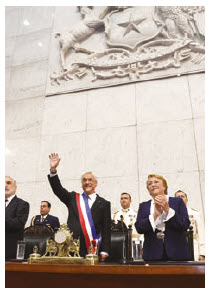 Chile's financial management is a model of the benefits of trade, deregulation and private-market solutions. Shown here are former president Michele Bachelet and current President Sebastián Piñera. (Photo: © Ig0rzh | Dreamstime.com)