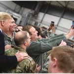 President Donald Trump shook hands and took photos with military personnel during a stopover at Ramstein Air Force Base in Germany, following his unannounced visit to U.S. troops at the Al-Asad Airbase in Iraq, just days after he announced he wanted an eventual withdrawal from Afghanistan. (Photo: OFFICIAL WHITE HOUSE PHOTO BY SHEALAH CRAIGHEAD)