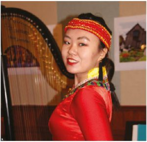 To mark the 45th anniversary of the China-Canada Scholars' Exchange Program (CCSEP), the Embassy of China and Global Affairs Canada hosted a reception and concert. This woman in traditional dress performed. (Photo: Ülle Baum)