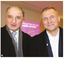"The Estonian documentary ""Rodeo"" was shown at the 33rd EU Film Festival that took place at the Ottawa Art Gallery's Alma Duncan Salon. From left: Georgian Ambassador Konstantine Kavtaradze and Estonian Ambassador Toomas Lukk. (Photo: Ülle Baum)"