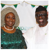 Nigerian High Commissioner Adeyinka Olatokunbo Asekun and his wife, Olawunmi Ibilola Asekun, hosted a national day reception at the Westin Hotel. (Photo: Ülle Baum)