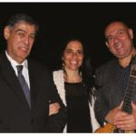 Portuguese Ambassador João da Camara hosted a concert by Portuguese fado guitarist Custódio Castelo at the University of Ottawa. From left: Camara and his wife, Maria Raquel Barata Belchior Rodrigues P. da Camara, with Castelo after a successful concert. (Photo: Ülle Baum)
