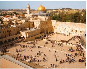 The Western Wall in Jerusalem is the holiest site in Judaism. A remnant of the Second Temple, it serves as a pilgrimage destination for Jews from around the world and it is a custom to place a note in the wall.  (Photo: NOAM CHEN)