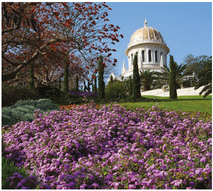 Baha'i Gardens, which casade down a mountain in Haifa, have been named a UNESCO World Heritage Site and are a must-see on a coastal tour of Israel. (Photo: Itamar Grinberg)