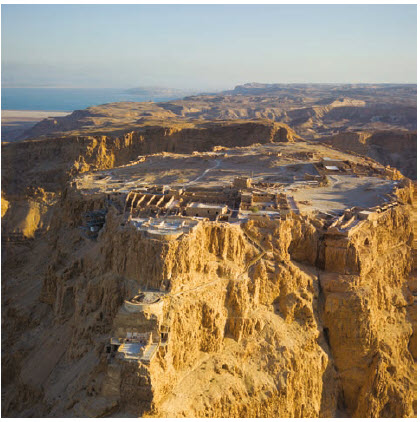The ancient fortress of Masada is one of the world's great archeological excavations. Jewish King Herod built it in 30 BC as the stronghold for Jewish rebels during the time of Roman conquest. (Photo: Godot1)