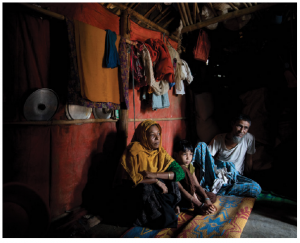 A Rohingya family at Kutupalong Rohingya Refugee Camp in Bangladesh. Omidvar anticipates the plight of the Rohingya will continue to be a global issue for years to come. (Photo: UN photo)
