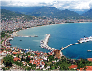 Antalya, shown here, ushers visitors to the Turkish Riviera, also called the Turquoise Coast. Turkey attracted 37.6 million tourists in 2017. (Photo: Bestalex)