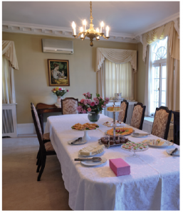 The dining room, where the couple serves traditional Sri Lankan food, seats 12 comfortably.  (Photo: Dyanne Wilson)