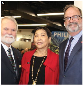 Philippine Ambassador Petronila P. Garcia hosted an embassy concert and buffet reception for the Friends of the National Arts Centre Orchestra ( FNACO). The evening featured pianist Judy Ginsburg, flutist  Kathy Baerg, classical guitarist Nathan Bredeson, and cellist Steve Smith and raised funds for NACO's educational programs. From left: FNACO president Albert Benoit, Garcia and J. Ian Burchett, director general for APEC and ASEAN at Global Affairs Canada. (Photo: Ülle Baum)