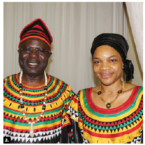 To mark Cameroon's national day, High Commissioner Solomon Anu'a Gheyle Azoh-Mbi and his wife, Mercy Enow Egbe Epse Azoh Mbi, hosted a reception at the Château Laurier. (Photo: Ülle Baum)