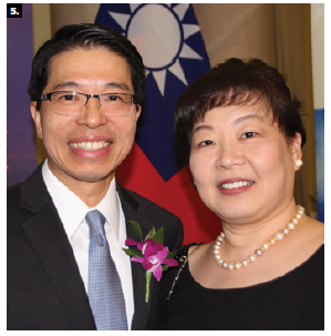 Taiwan Night 2019 took place at the Fairmont Château Laurier. Shown are Taipei Economic and Cultural Office Representative Winston Wen-yi Chen and his wife, Sylvia Pan. (Photo: Ülle Baum)
