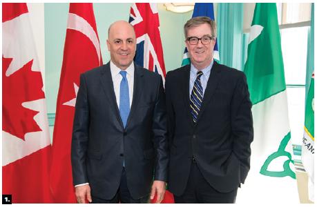 Turkish Ambassador Kerim Uras paid a courtesy call to Ottawa Mayor Jim Watson (Photo: Chris Bricker)