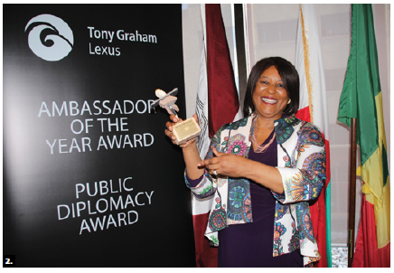 The second Ambassador of the Year Awards ceremony and reception took place at University of Ottawa in collaboration with the deans of the faculties of civil and common law. South African High Commissioner Sibongiseni Yvonne Dlamini-Mntambo was one of the 10 winning heads of mission accredited to Canada. (Photo: Ülle Baum)