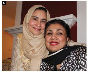 Pakistani press minister Nadeem Haider Kiani and his wife, Shazia Kiani, left, hosted a dinner at their home. Shown with Kiani is Siddiqa Tarar, wife of the new Pakistani high commissioner Raza Bashir Tarar. (Photo: Ülle Baum)