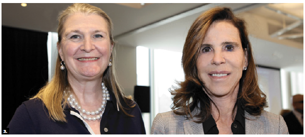 British High Commissioner Susan le Jeune d'Allegeershecque and French Ambassador Kareen Rispal attended World Press Freedom luncheon. (Photo: Lois Siegel)