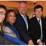 From left, Austrian Ambassador Stefan Pehringer, Senait Gebregziabher (SOS Children's Villages), SOS CEO Thomas Bauer, MPGarnett Genius and Ambassador Konstantine Kavtaradze at the reception.