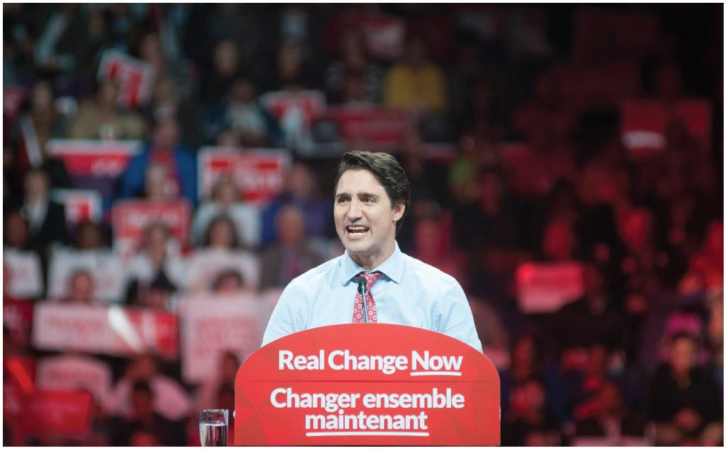 """""""Democracy, human rights, international law, environmental protection and economic policies that work for everyone will be at the heart"""" of the Liberals' foreign policy, says Prime Minister Justin Trudeau.  (Photo: © Arindam Banerjee 