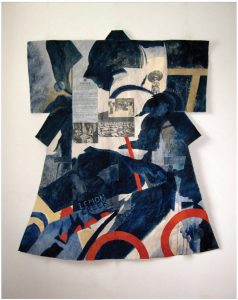 Norman Takeuchi's kimonos reference Canadian camps where Japanese-Canadians were interned during the Second World War. This one is from Sites of Memory: Legacies of the Japanese Canadian Internment now showing at Carleton University Art Gallery until January. (Photo: CUAG)