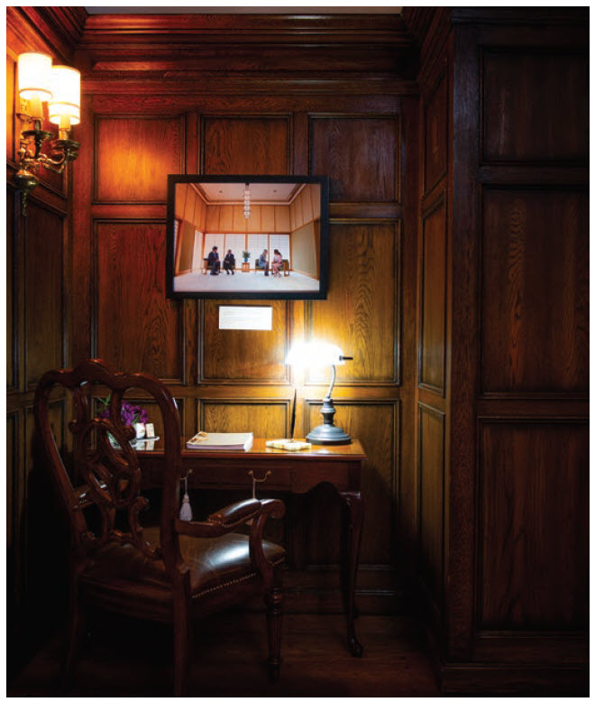 The panelled library is the ambassador's favourite room. (Photo: Ashley Fraser)