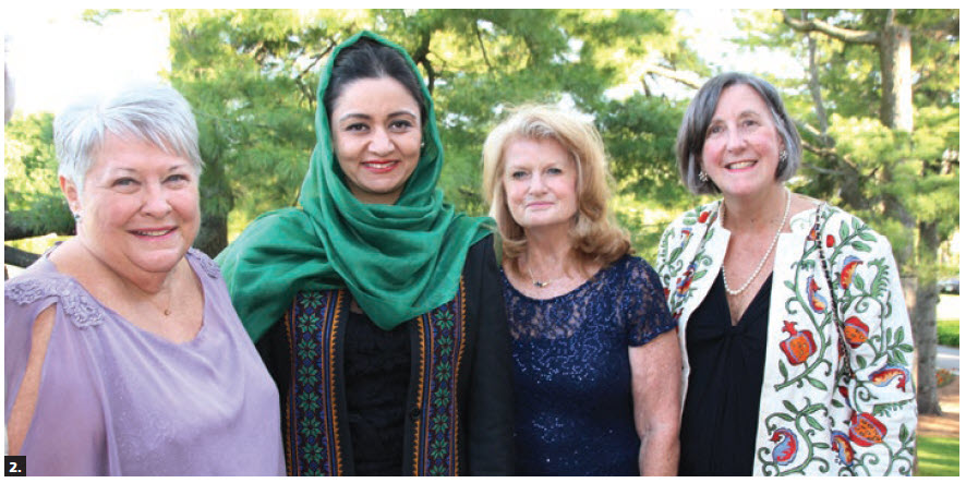 """The Canadian Federation of University Women's """"women helping Afghan women group"""" hosted a fundraising dinner at Ottawa Hunt and Golf Club. From left, Lorna Bickerton, convenor of the group; Roya Rahmani, Afghan ambassador to the U.S.; and group members Elizabeth Wilfrid and Hally Siddons. (Photo: Ülle Baum)"""