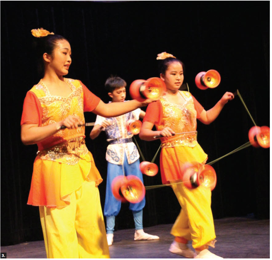 The Taipei Youth Folk Sports group presented a cultural show at Carleton University. Taiwanese students performed. (Photo: Ülle Baum)