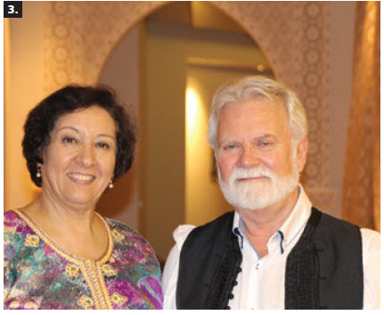 To celebrate Throne Day, Moroccan Ambassador Souriya Otmani and her husband, Merouane Sadqi, hosted a concert and dinner for the Friends of the National Arts Centre Orchestra (FNACO) at their home. From left: Otmani and Albert Benoit, president of FNACO. (Photo: Ülle Baum)