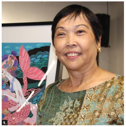 Philippines Ambassador Petronila Garcia hosted an opening of an art exhibit by Frances Alcaraz. (Photo: Ülle Baum)